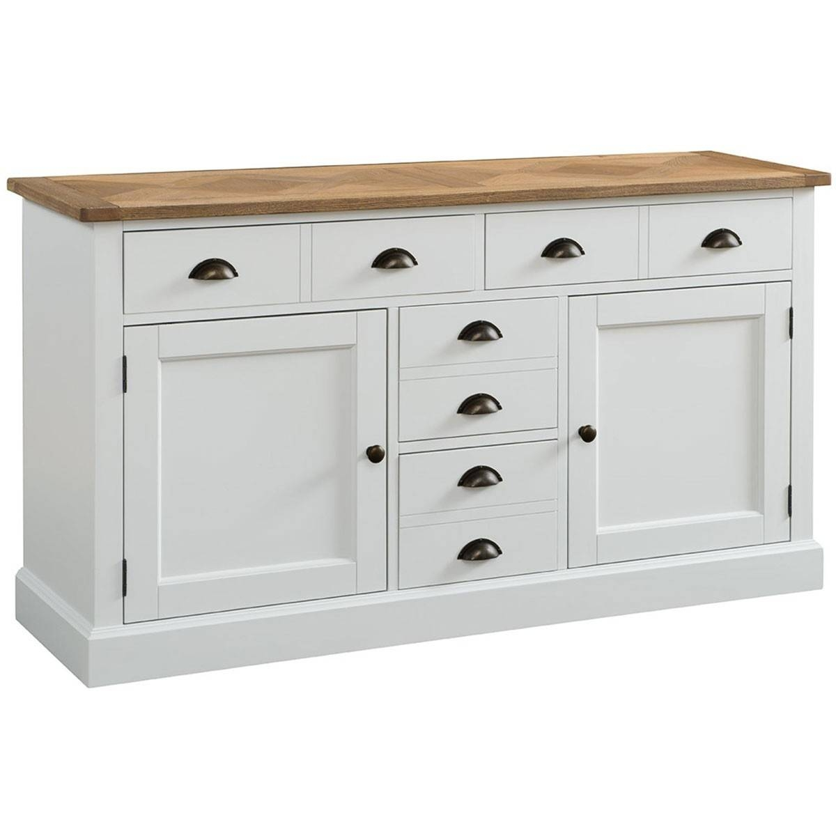 Hutch® – Pembroke White Painted Large Sideboard For Large White Sideboard (#9 of 20)