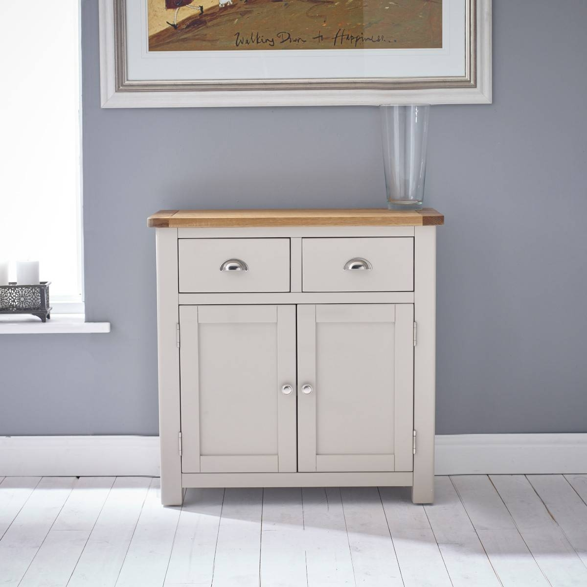 Hutch® – Portsmouth Stone Grey Painted Small Sideboard In Small Sideboard (#11 of 20)