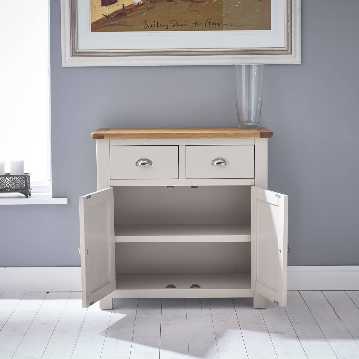 Hutch® – Portsmouth Stone Grey Painted Small Sideboard With Regard To Small Sideboard With Drawers (View 13 of 20)