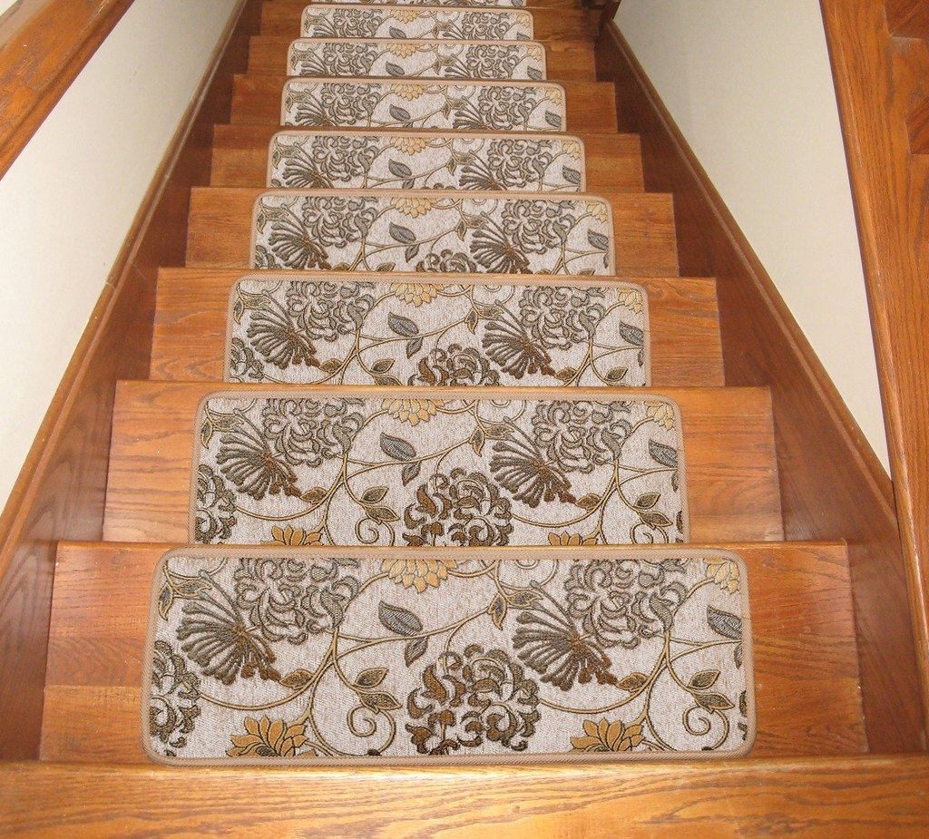 Ideas For Install Carpet Stair Treads Within Rubber Backed Stair Tread Rugs (View 17 of 20)