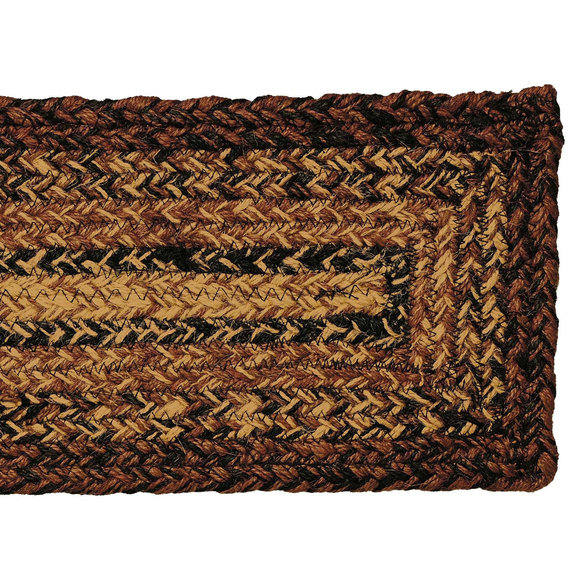 Ihf Country Jute Braided Oval Stair Treads For Checkerberry 8×28 With Oval Stair Tread Rugs (#17 of 20)