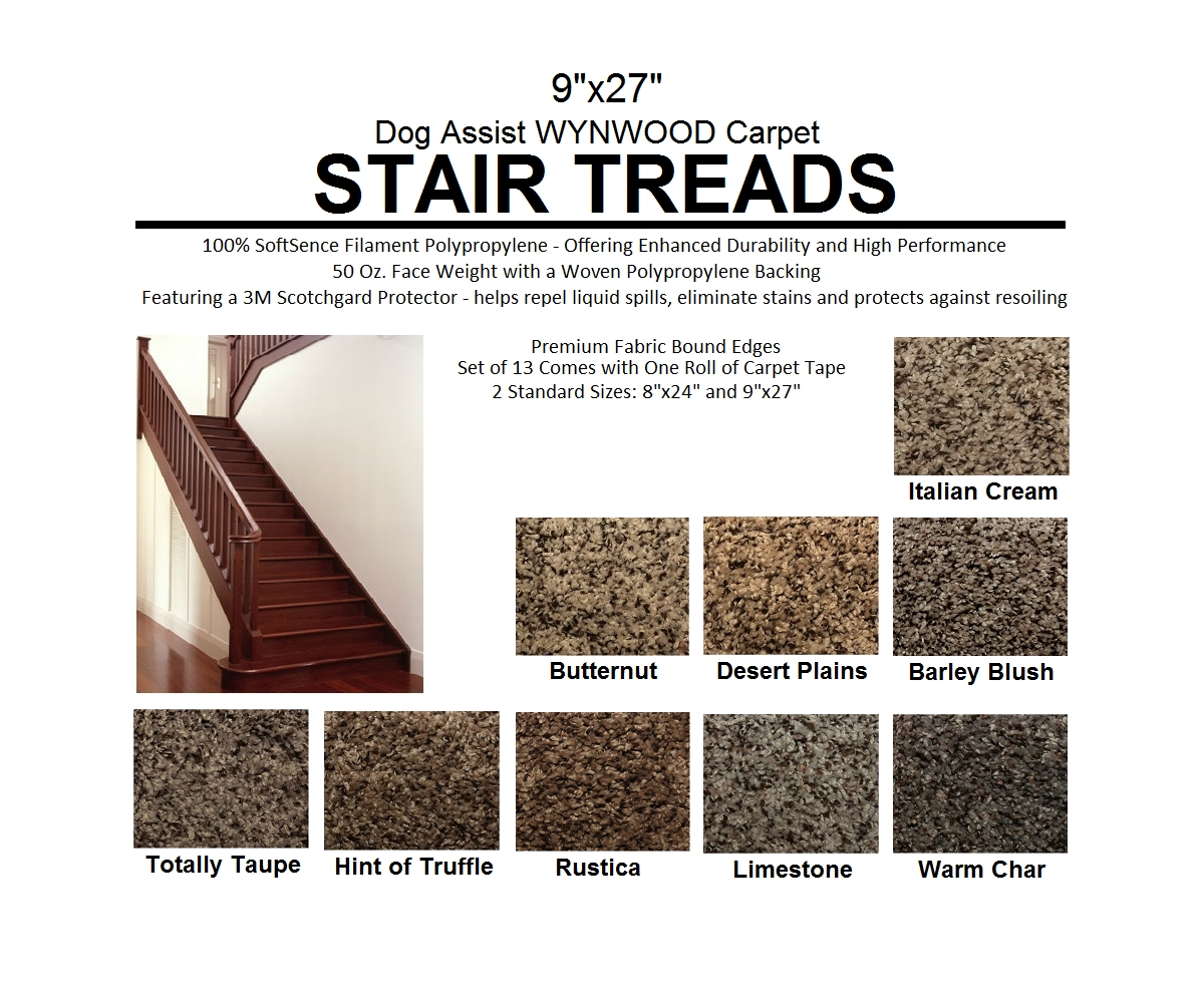 Ii Dog Assist Carpet Stair Treads In Set Of 13 Stair Tread Rugs (#12 of 20)