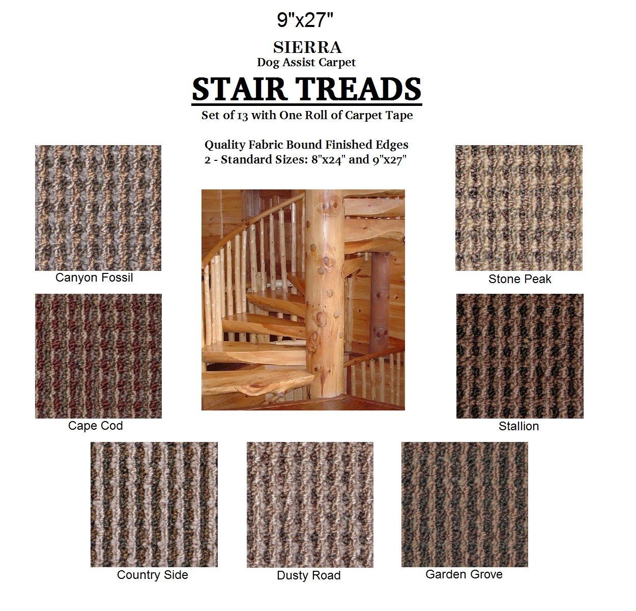 Ii Dog Assist Carpet Stair Treads Pertaining To Set Of 13 Stair Tread Rugs (#13 of 20)