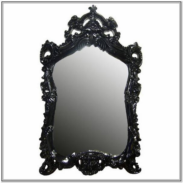Popular Photo of Large Black Ornate Mirrors