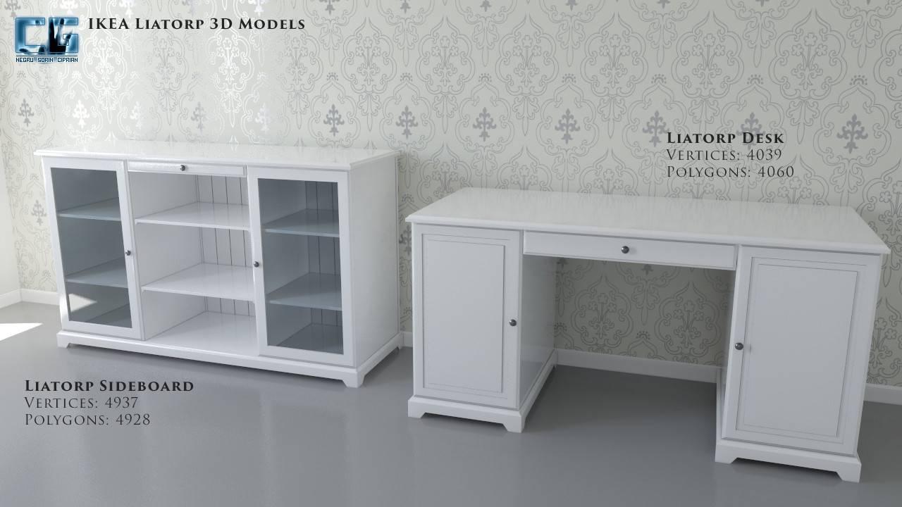 Ikea Liatorp Sideboard Desk Inside Desk Sideboard (#7 of 20)