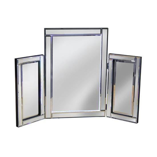 Illuminated Silver Led Dressing Table Mirror 17684 Regarding Silver Dressing Table Mirrors (#11 of 20)