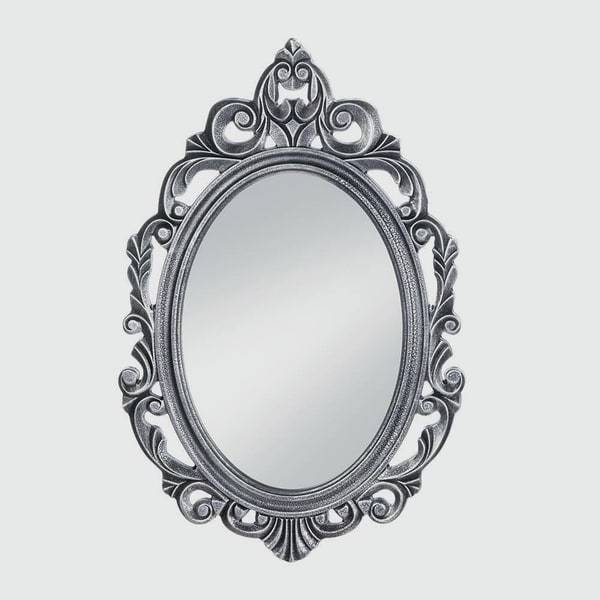 Imperial Regal Silver Oval Wall Mirror – Free Shipping Today With Silver Oval Wall Mirrors (View 18 of 20)