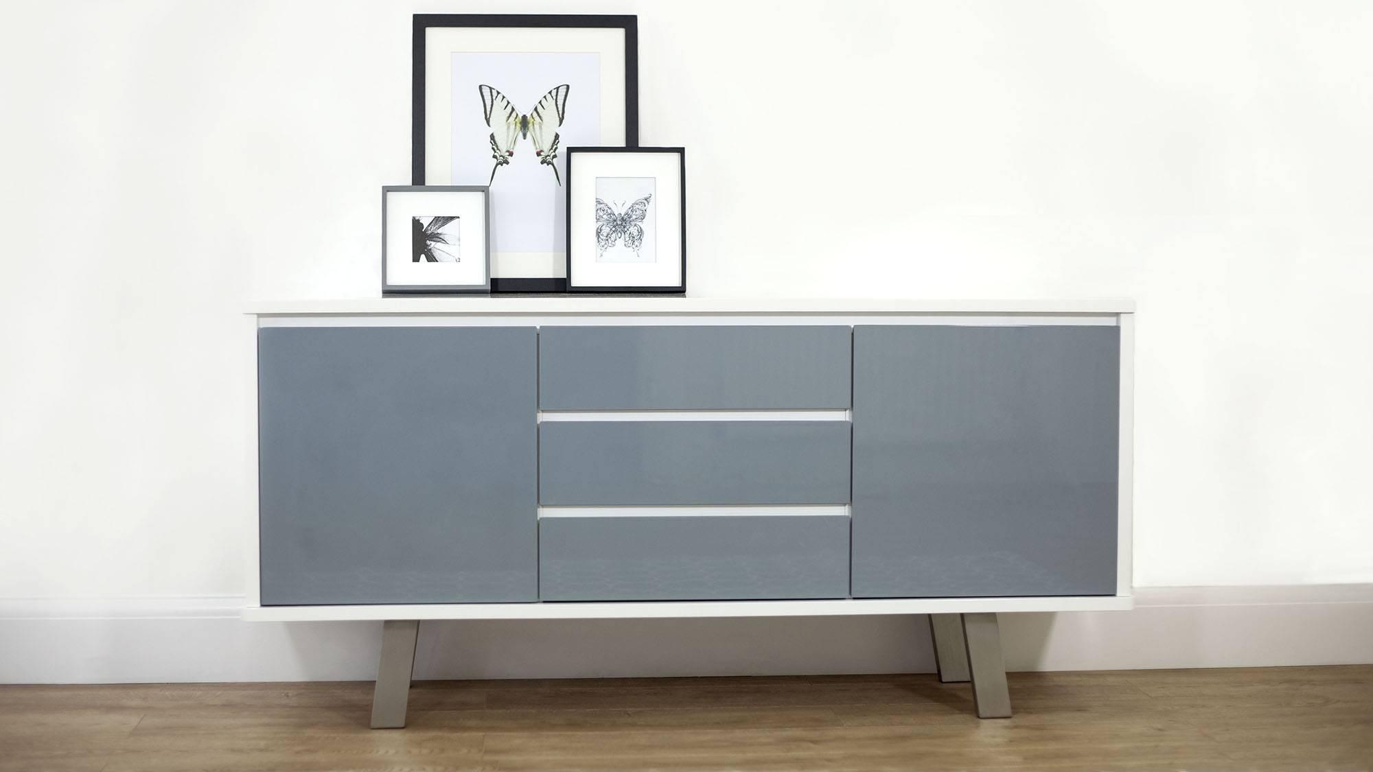 Impressive Contemporary Grey Oak Sideboard Design With Drawers And In Contemporary Sideboard Cabinet (View 18 of 20)