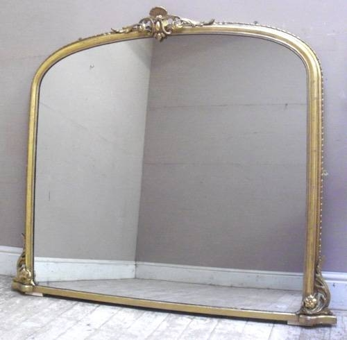 Imw2265 Stunning Antique Overmantle Mirror Inside Large Mantel Mirrors (#20 of 30)