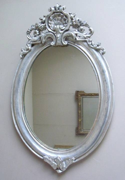 Imw2392 Silver French Oval Mirror In Silver Oval Mirrors (#10 of 20)