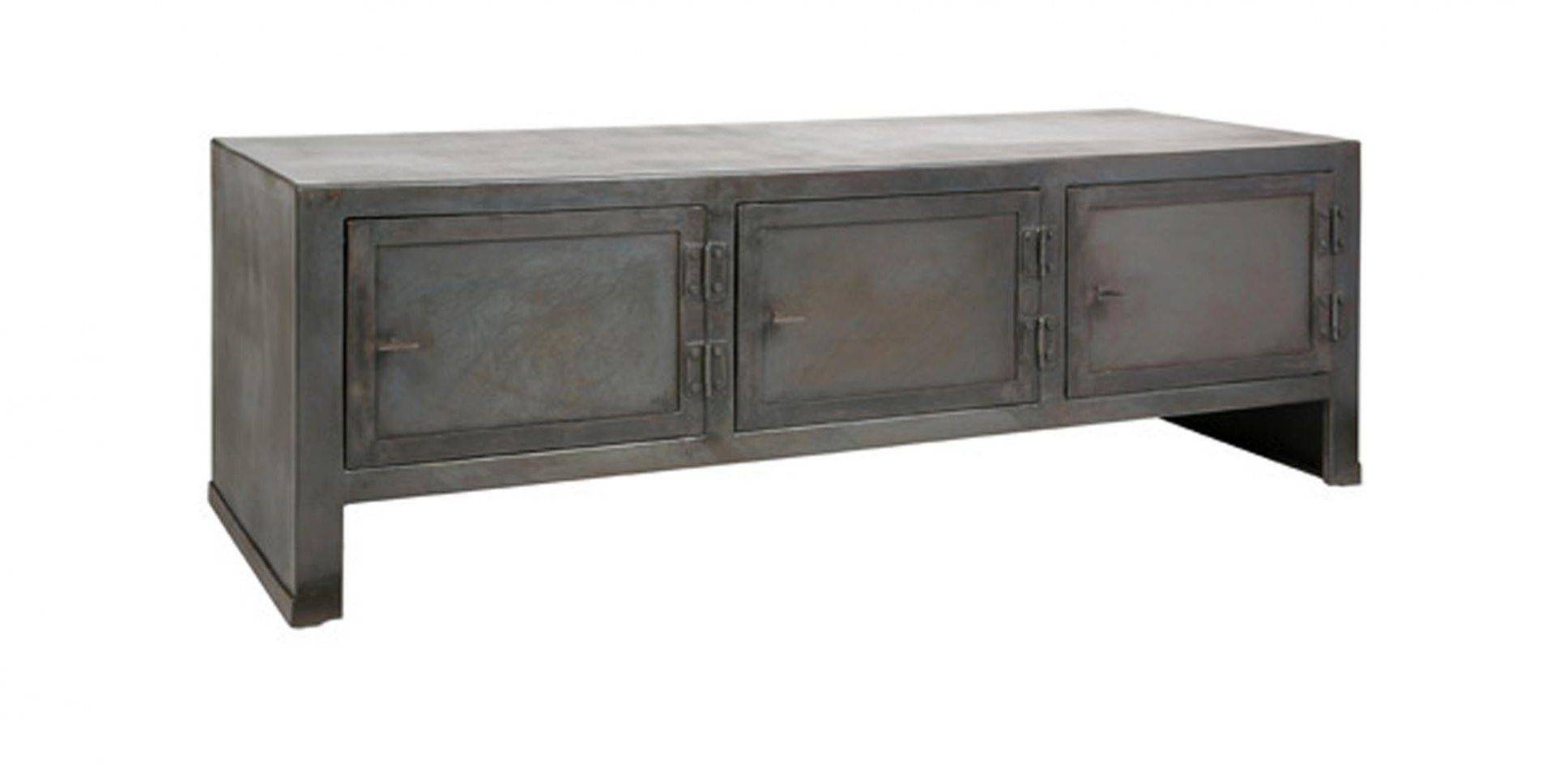Industrial Style Sideboard / Steel / Solid Wood – Artcraft With Regard To Black And Silver Sideboard (#9 of 20)
