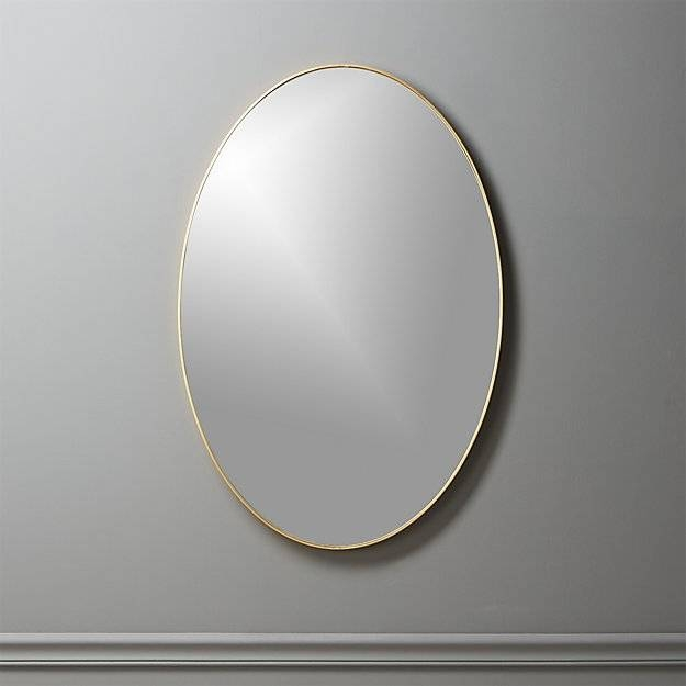 "Infinity Brass Oval Wall Mirror 24""x36"" 