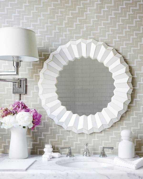 Inspired By: Round Mirrors – The Inspired Room Pertaining To White Round Mirrors (#16 of 30)