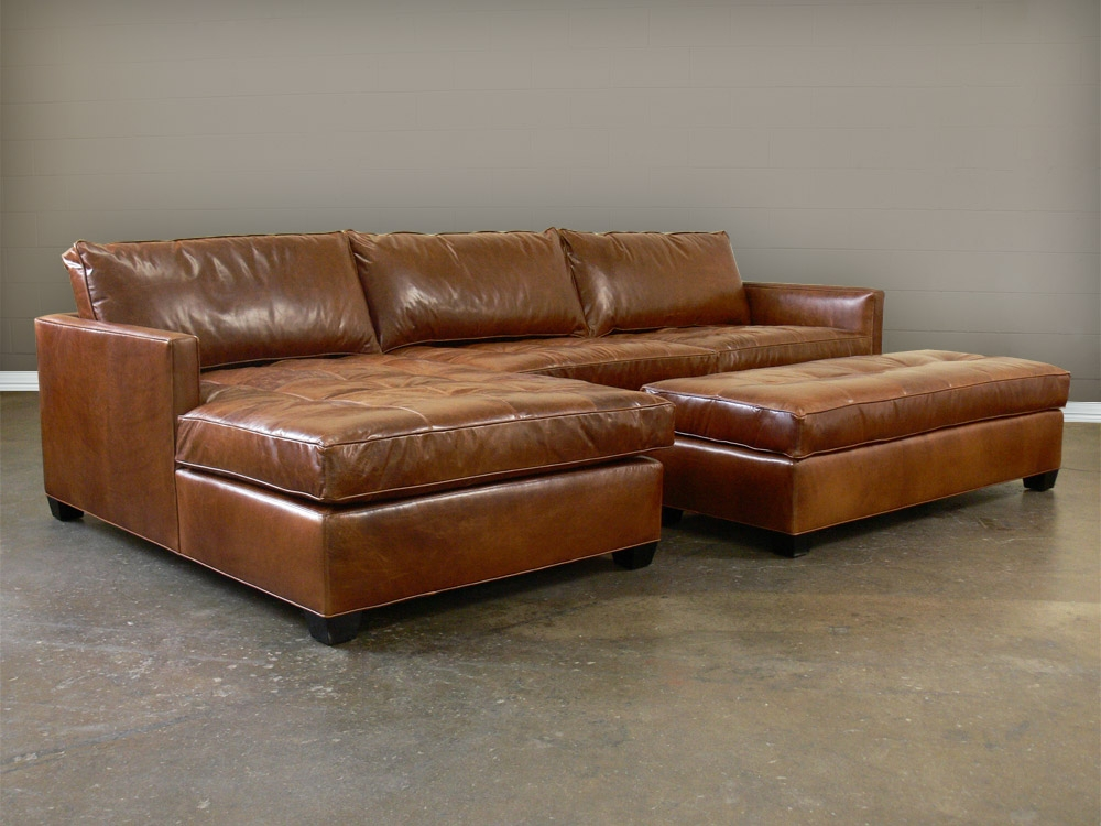 Inspiring Leather Sofa With Chaise Sacramento Espresso Leather With Regard  To Vintage Leather Sectional Sofas (