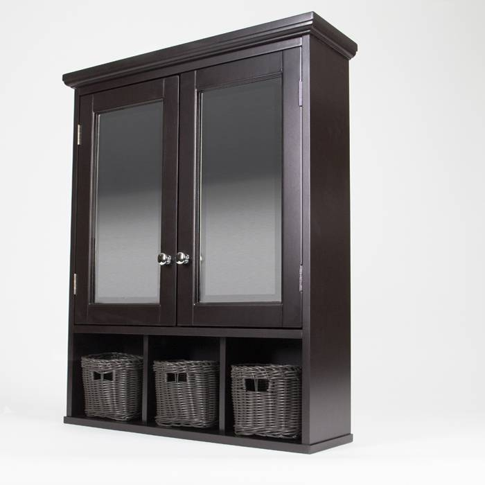 Install A Mirrored Medicine Cabinet And Vanity Light Pertaining To Black Cabinet Mirrors (#27 of 30)