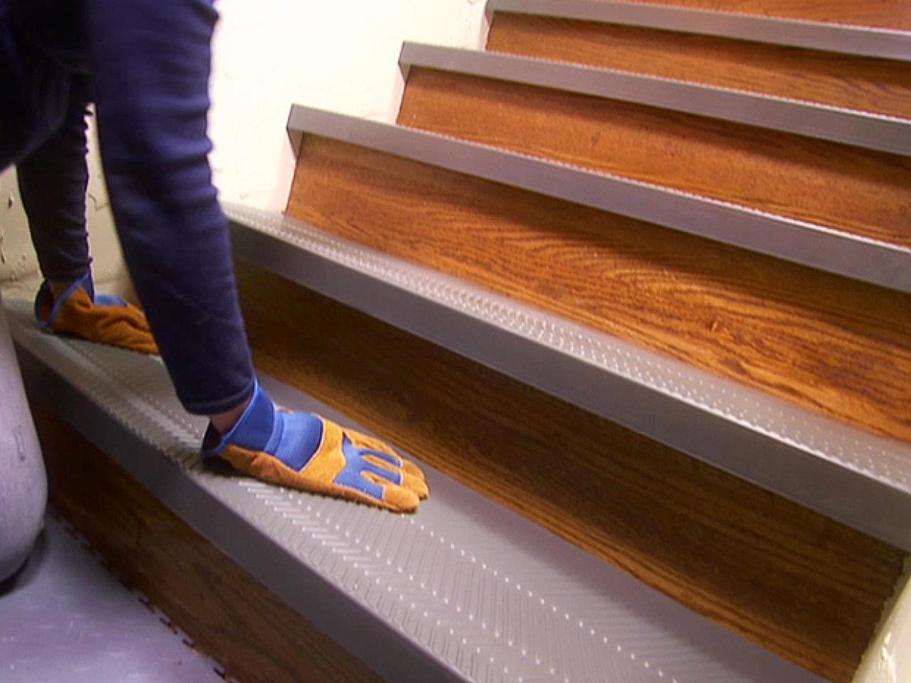 Installing Non Slip Stair Treads How Tos Diy Regarding Stair Protectors Wooden Stairs (#11 of 20)