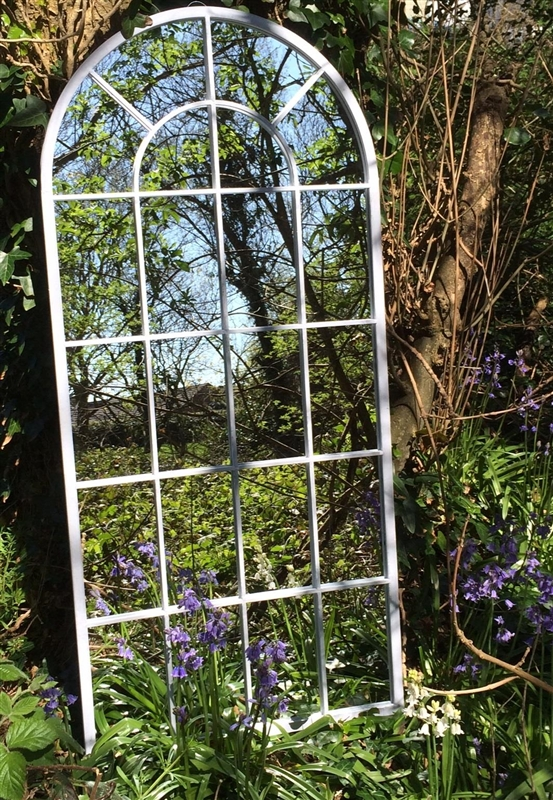 Interesting Garden Mirror Capulet Rustic Arch 115 X 50 F To Ideas Regarding Curved Top Mirrors (View 13 of 30)