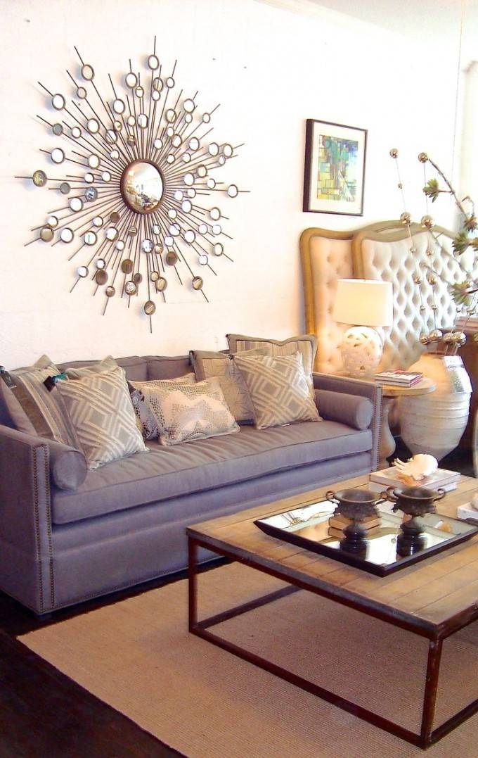 Interior & Decoration: Awesome Starburst Mirrors For Your Wall For Bronze Starburst Mirrors (View 20 of 20)