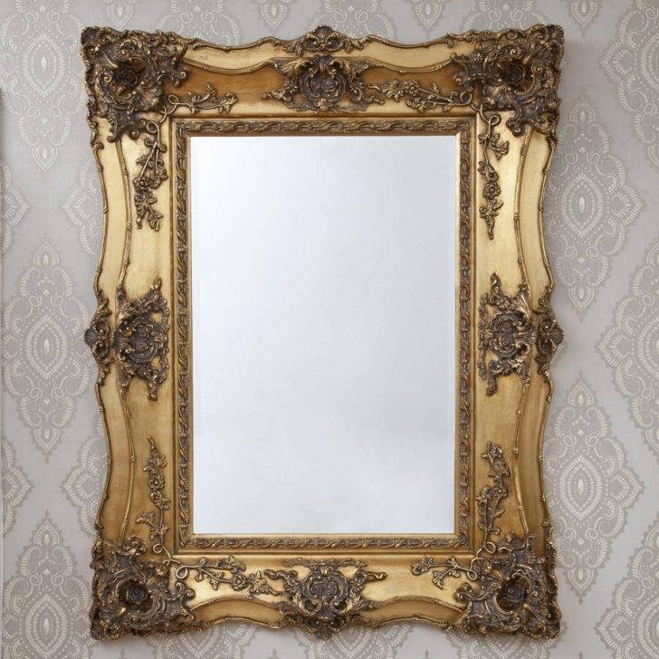 Interior : Decorative Gold Mirrors With Regard To Lovely 6X6 Regarding Gold Heart Mirrors (#24 of 30)