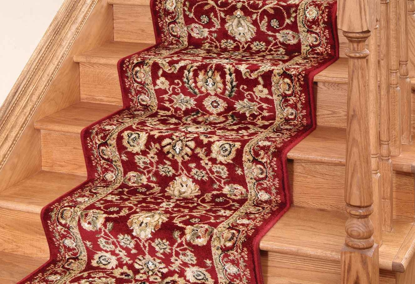 Interior Gray Scale Stairway Carpet Which Decorated With Black With Regard To Oriental Rug Stair Treads (#10 of 20)