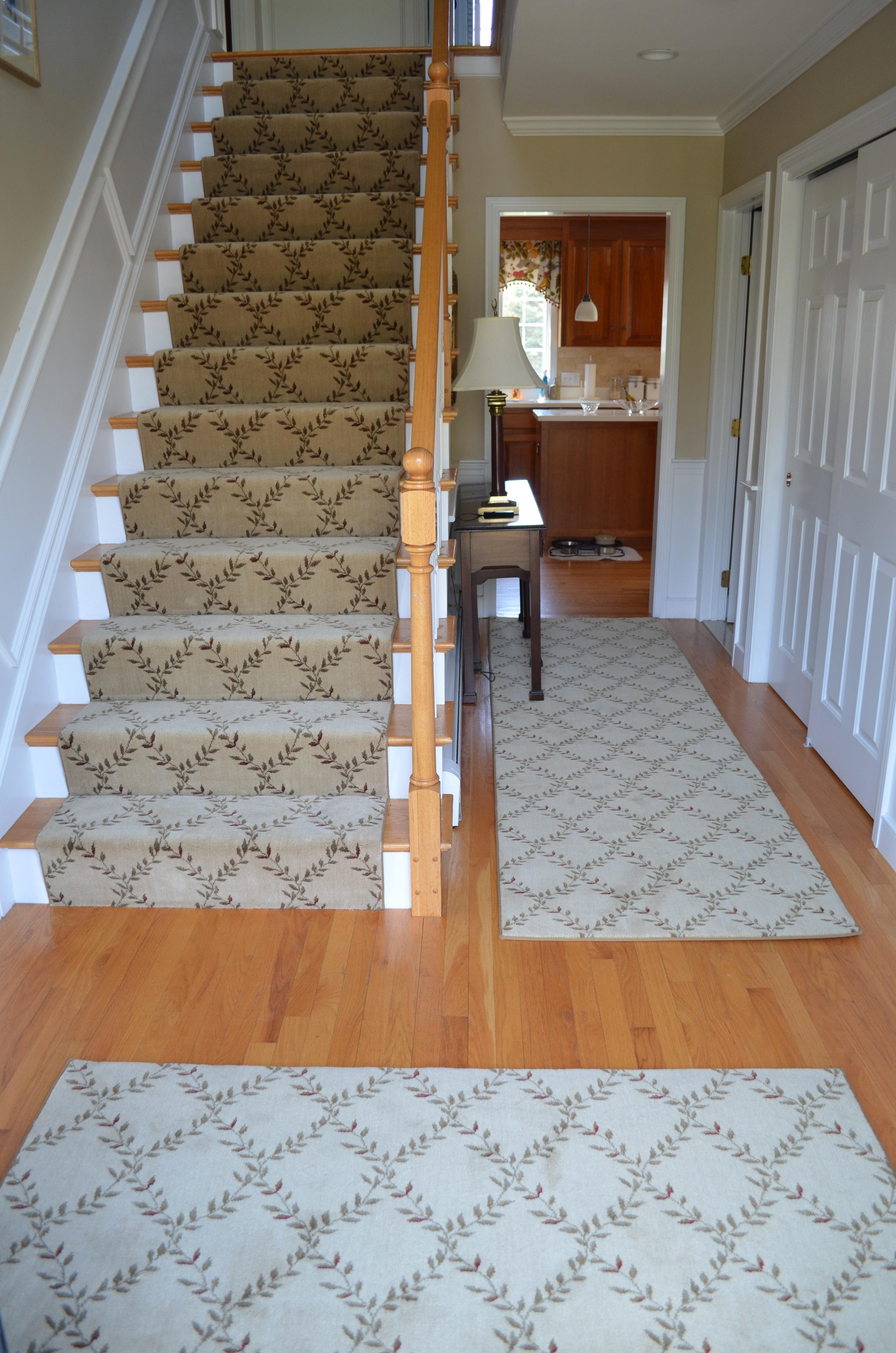 Interior Leopard Pattern Stair Runner On Dark Brown Laminate Throughout Hall Runner Dark Brown (#17 of 20)