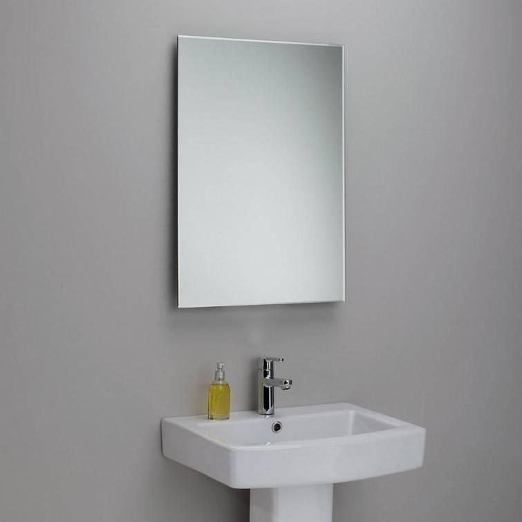 Interior: Mesmerizing Frameless Full Length Mirror For Home Regarding Large Frameless Mirrors (#14 of 20)