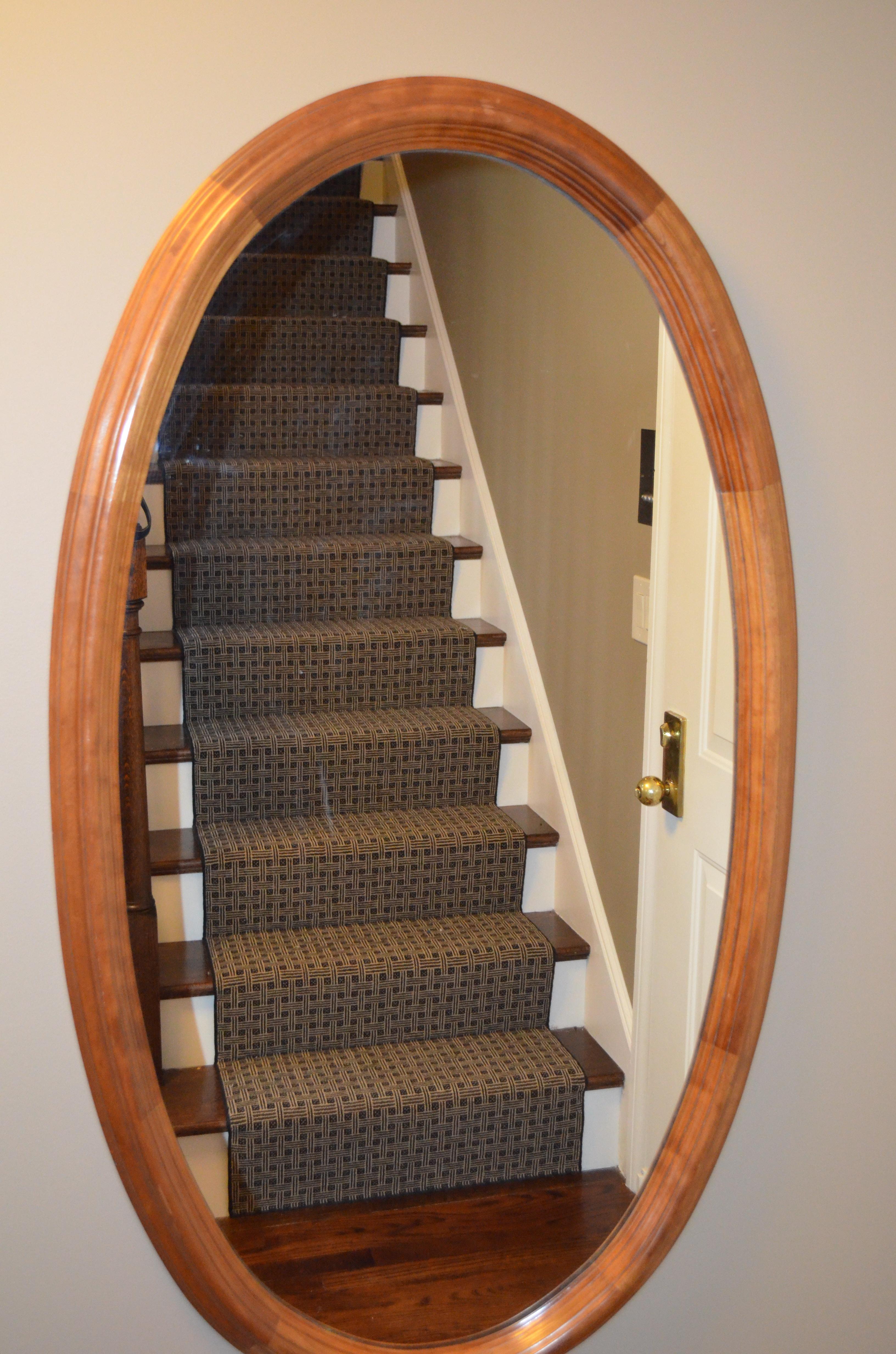 Interior Striped Patterned Carpet Runner With Chromed Metal Rod Regarding Hall Runner Dark Brown (#19 of 20)