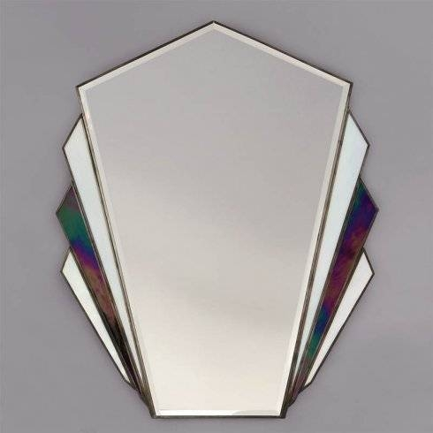 Interiors 1900 Astoria Art Deco Tiffany Style Wall Mirror With Art Deco Style Mirrors (#16 of 20)