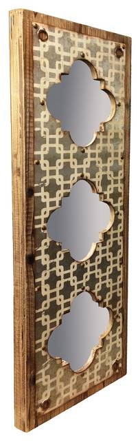 Interlace Triple Wall Mirror – Farmhouse – Wall Mirrors  Wilco With Regard To Triple Wall Mirrors (#13 of 30)
