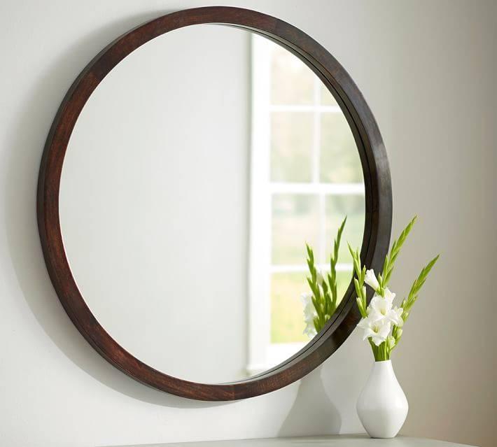 Iris Mirror | Pottery Barn Inside Long Oval Mirrors (#18 of 30)