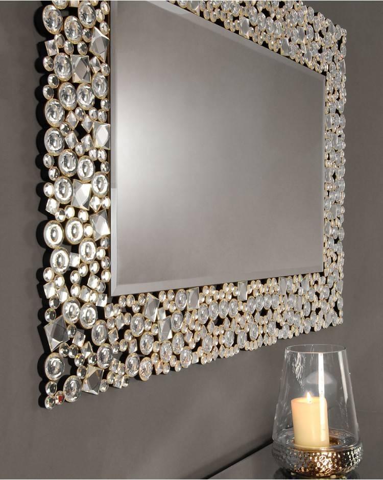 Ispra Mirror Silver Glitz Venetian Glass 120 Cm X 80 Cm For Glitzy Mirrors (View 2 of 20)