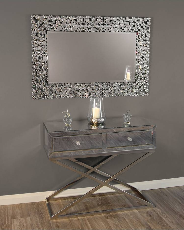 Ispra Mirror Silver Glitz Venetian Glass 120 Cm X 80 Cm With Regard To Glitzy Mirrors (View 11 of 20)