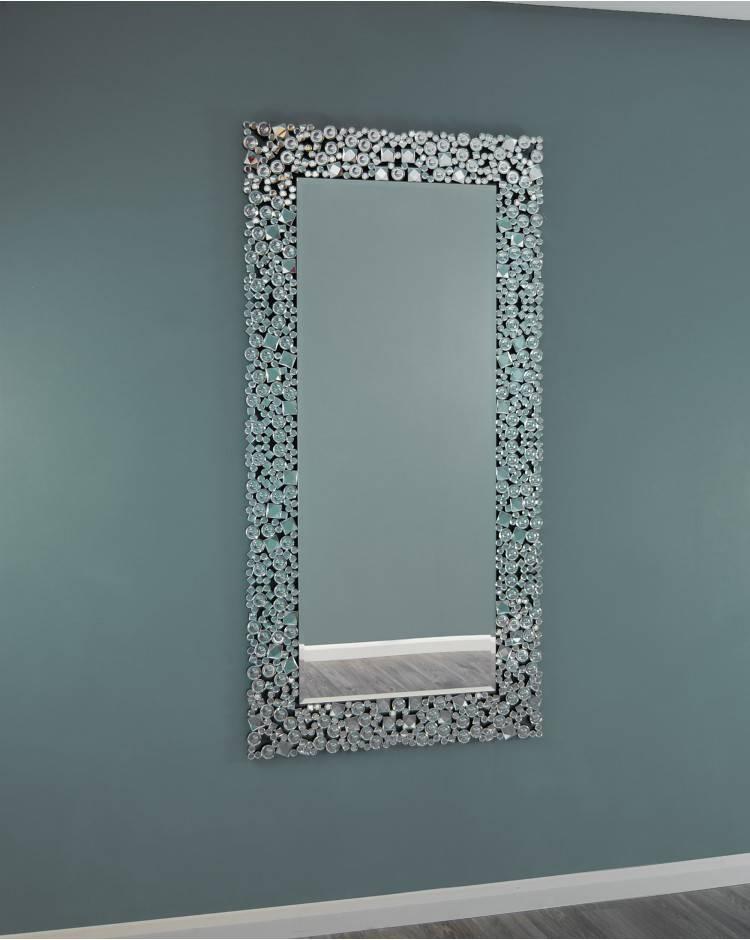 Ispra Modern Large Silver Glitz Wall Mirror For Glitzy Mirrors (View 16 of 20)