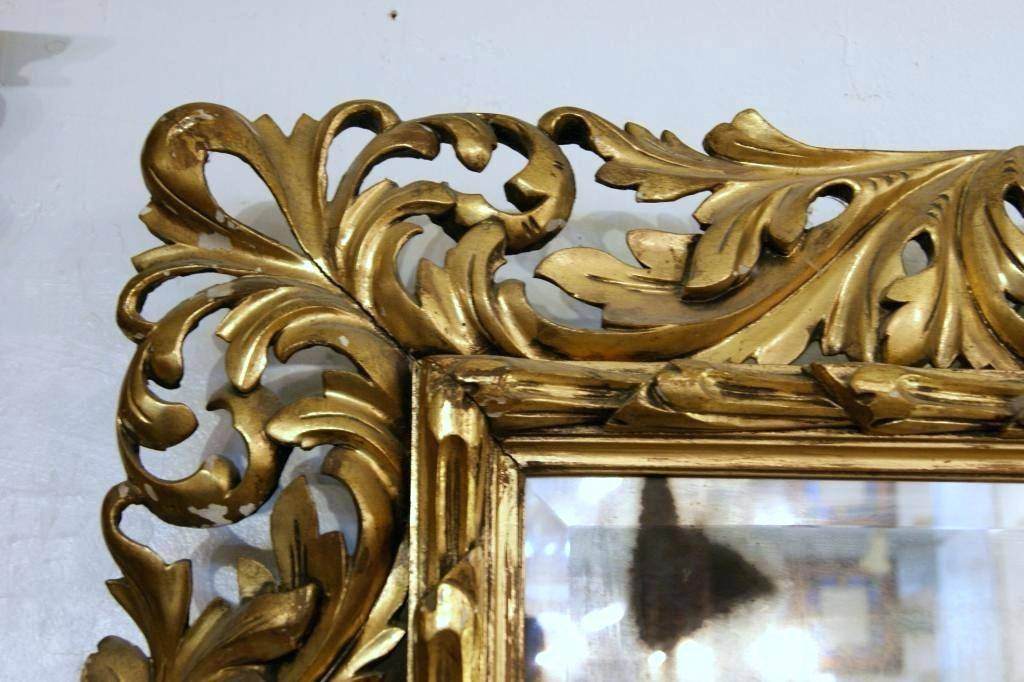Italian Antique Mirror – Shopwiz Within Antique Gilded Mirrors (View 18 of 20)