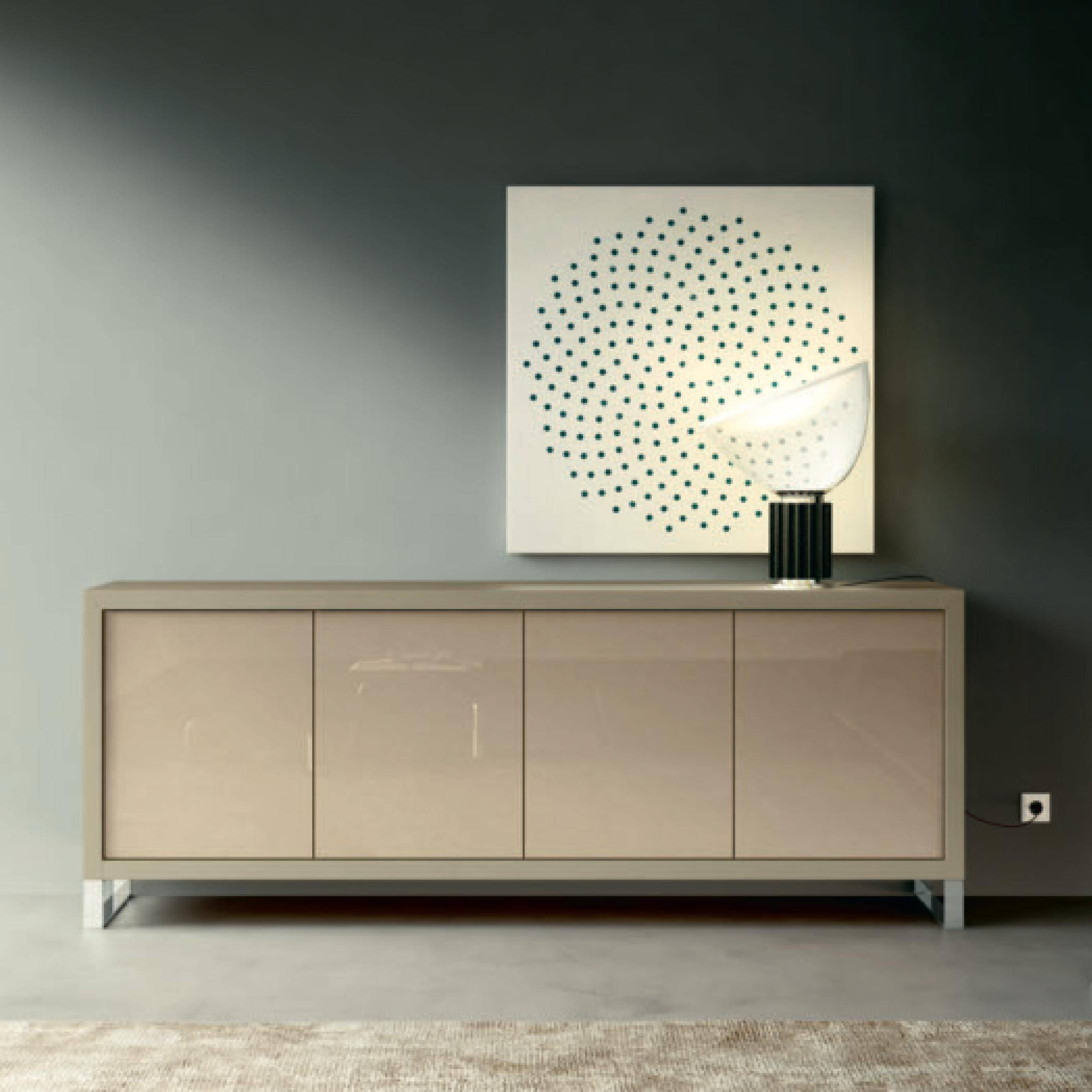 Italian Contemporary Design Minimalist Sideboard, Chest Perla Intended For Glass Sideboard (#12 of 20)