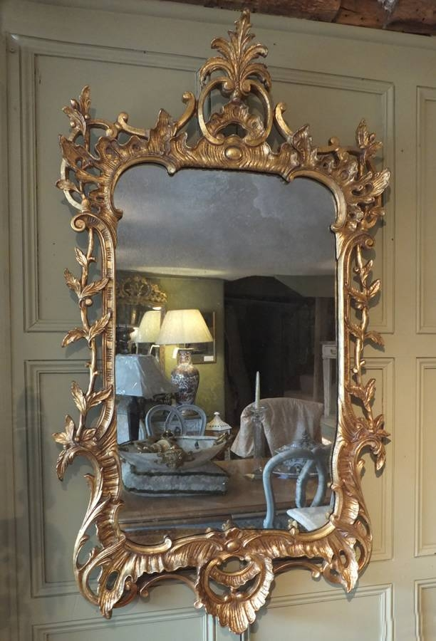 Italian Ornate Gilded Wall Mirror | Antique The Sold Items Regarding Ornate Antique Mirrors (#14 of 15)