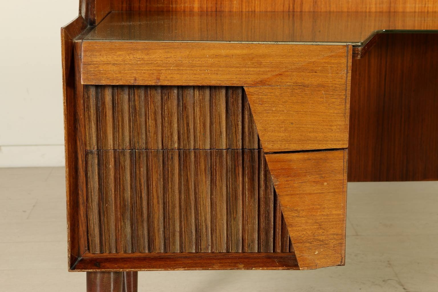 Italian Rosewood Sideboard With Drawers And Glass Top, 1950S For For Glass Top Sideboard (#3 of 20)