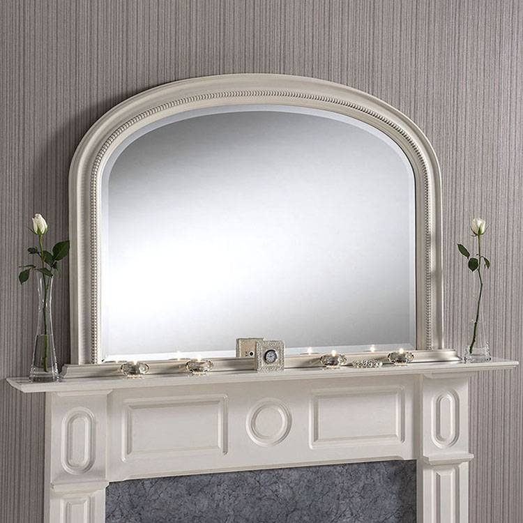 Inspiration about Ivory Bevelled Overmantle Mirror 112 (W) X 79Cm (H) Ivory Bevelled Pertaining To White Overmantle Mirrors (#8 of 30)