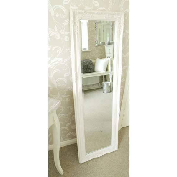 Ivory Ornate Tall Mirror 142Cm X 42Cm Throughout Ivory Ornate Mirrors (#13 of 20)