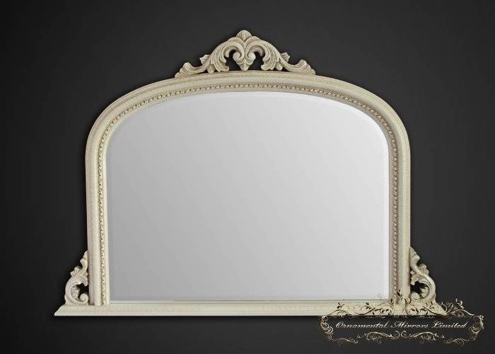Ivory Over Mantel Mirrors, Cream Over Mantel Mirrors From For Cream Mirrors (#23 of 30)