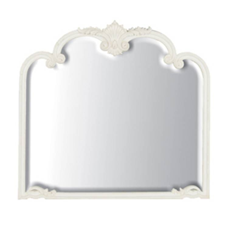 Inspiration about Ivory Overmantle Mirror 100 X 94Cm Ivory Overmantle Mirror With Regard To White Overmantle Mirrors (#5 of 30)