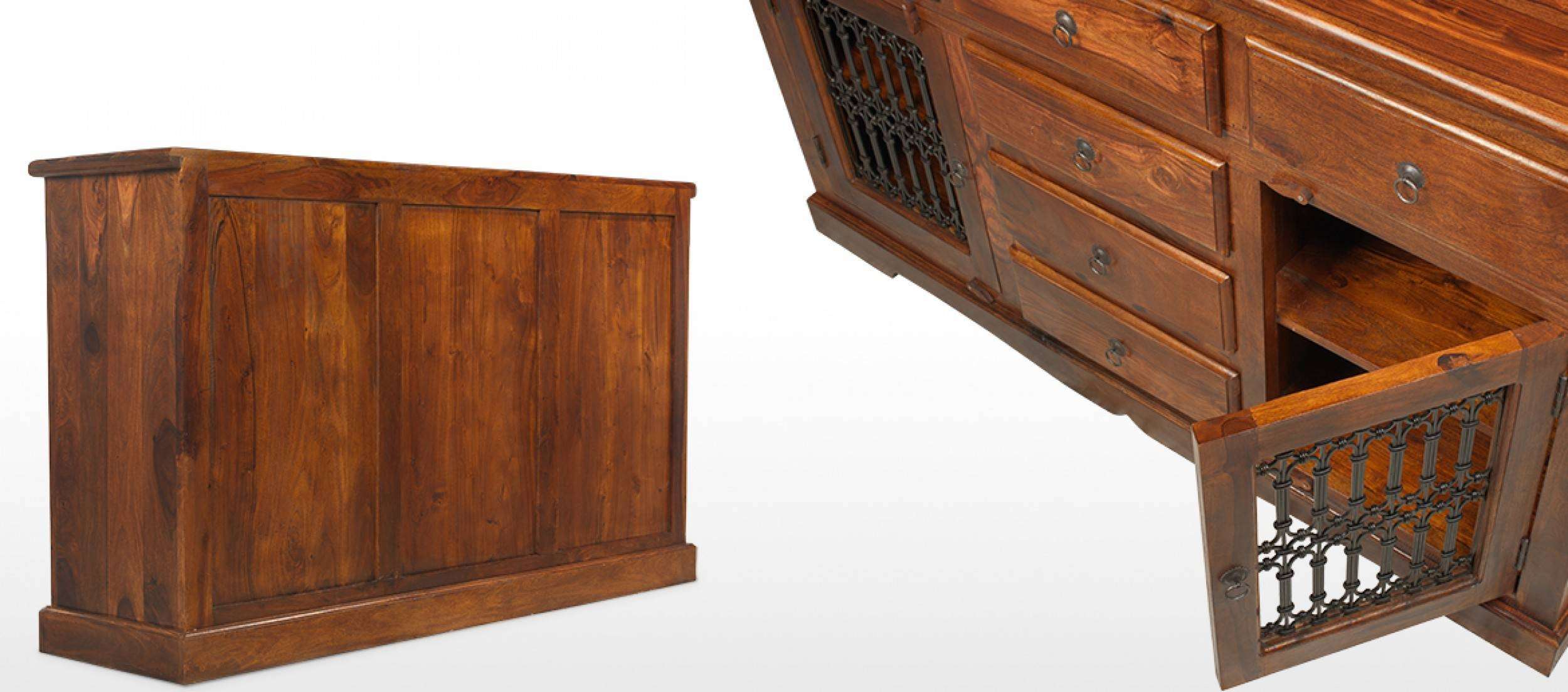 Jali Sheesham Large Sideboard   Quercus Living Within Sheesham Sideboards (View 6 of 20)