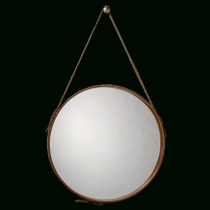 Popular Photo of Round Leather Mirrors