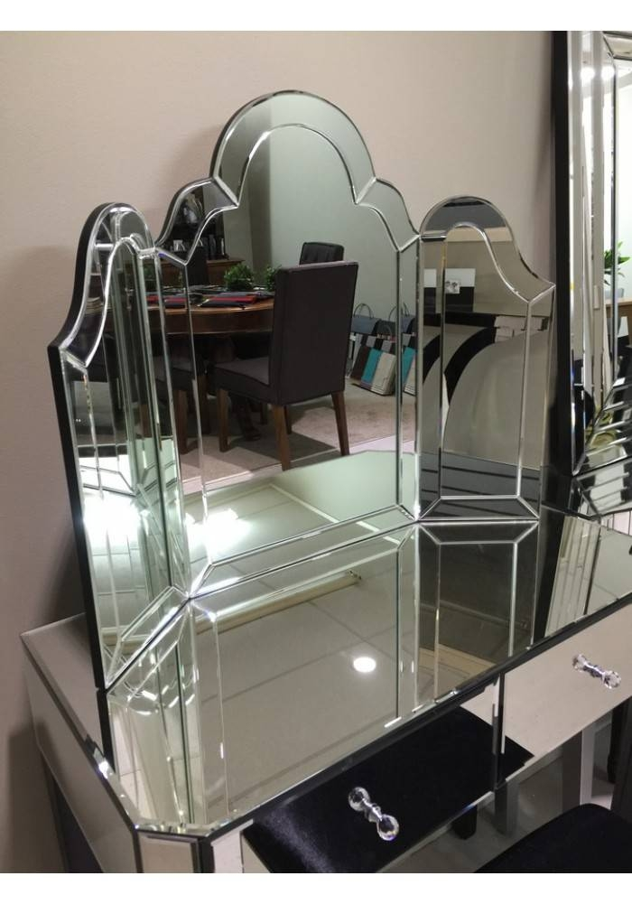 Janine Venetian Shaped Dressing Table Mirror Pertaining To Venetian Table Mirrors (#7 of 20)