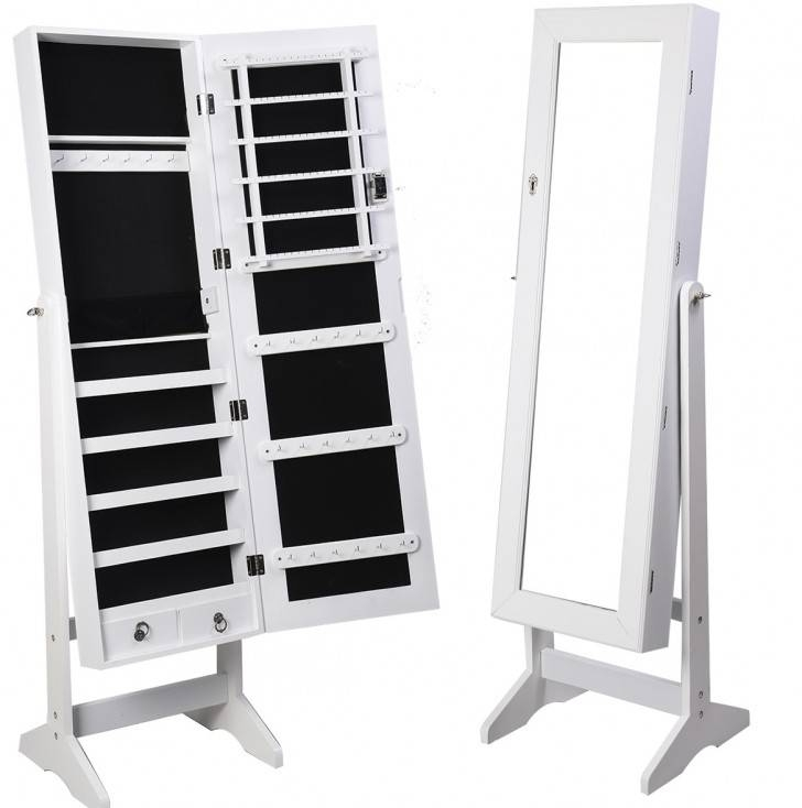 Jewelry Cabinet Mirror Free Standing | Roselawnlutheran With Regard To Free Standing Black Mirrors (#20 of 30)
