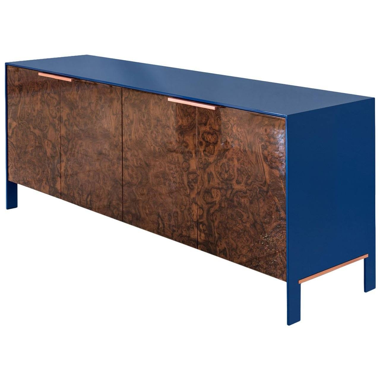 Johansson Cabinet Or Sideboard With Lacquered Aluminium, Walnut With Sideboard Sale (#8 of 20)