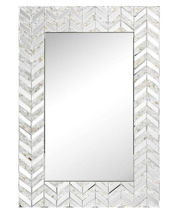 Jolla Glass Chevron Wall Mirror With Bevelled Glass Mirrors (#16 of 20)