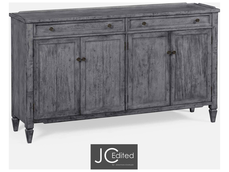 Jonathan Charles Jc Edited – Casually Country Antique Dark Grey In Dark Grey Sideboard (#12 of 20)