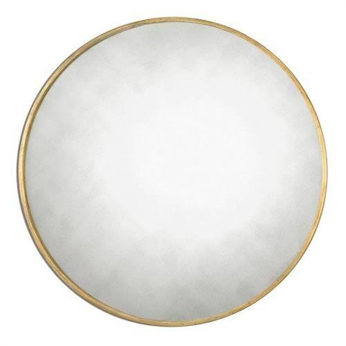 Junius Round Gold Round Mirror Uttermost Wall Mirror Mirrors Home Within Gold Round Mirrors (View 18 of 20)