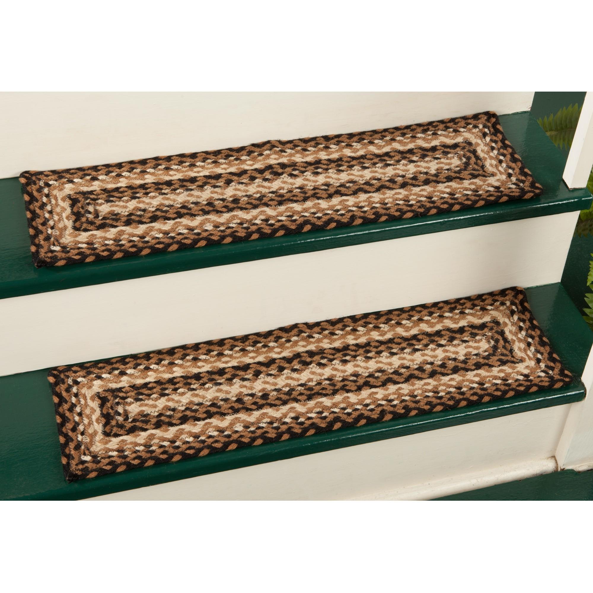 Jute Braided Stair Tread Sturbridge Yankee Workshop Regarding Stair Tread Rug Liners (View 2 of 20)